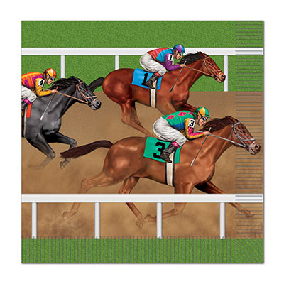 MELBOURNE CUP HORSE RACING LUNCHEON NAPKINS - PACK OF 16