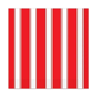 BIG TOP CIRCUS STRIPED LUNCH NAPKINS - PACK OF 16