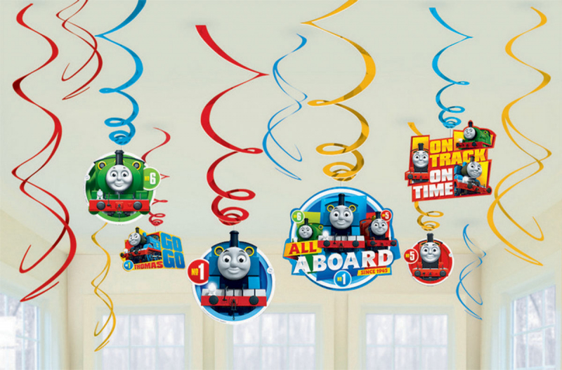 THOMAS THE TANK ENGINE HANGING SWIRLS PACK OF 12