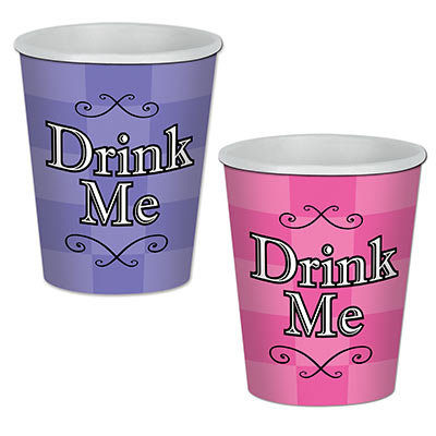 ALICE IN WONDERLAND CUPS - PACK OF 8