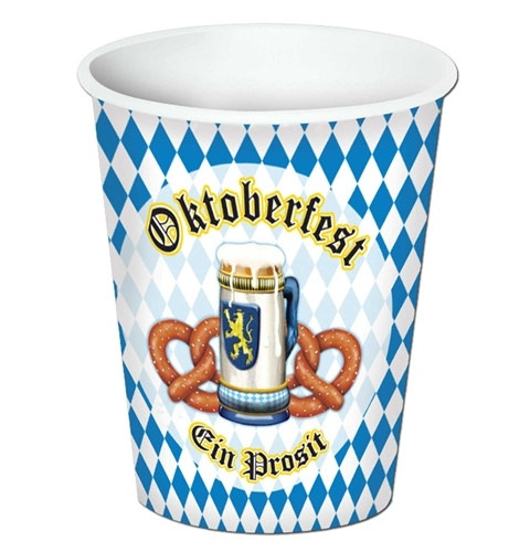 OKTOBERFEST THEMED PAPER CUPS PACK OF 8