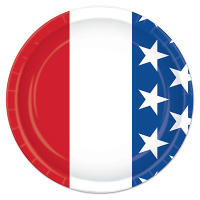 AMERICAN PATRIOTIC LUNCH PLATES - PACK OF 8