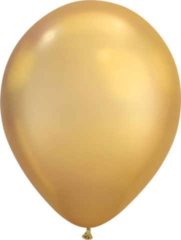 BALLOONS LATEX - CHROME GOLD PACK OF 100