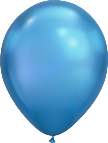 BALLOONS LATEX - CHROME BLUE PACK OF 100