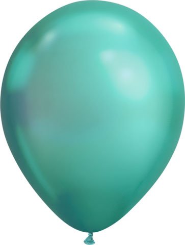 BALLOONS LATEX - CHROME GREEN PACK OF 25