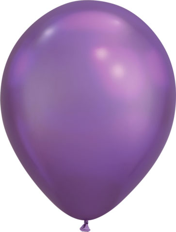 BALLOONS LATEX - CHROME PURPLE PACK OF 25