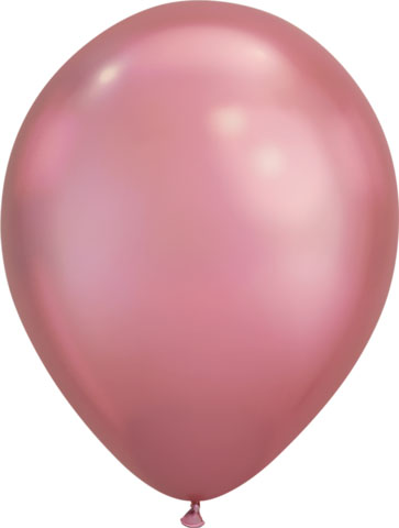 BALLOONS LATEX - CHROME LIGHT PLUM PACK OF 25
