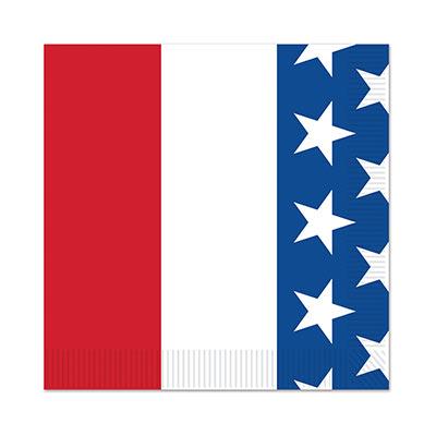 AMERICAN PATRIOTIC COCKTAIL NAPKINS - PACK OF 16