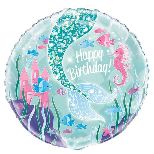 FOIL BALLOON - SPARKLING \'HAPPY BIRTHDAY\' MERMAID