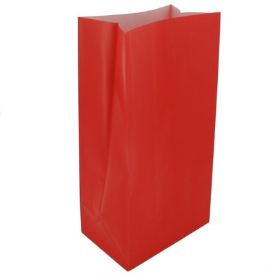 PAPER LOOT BAGS - RED - PACK OF 12