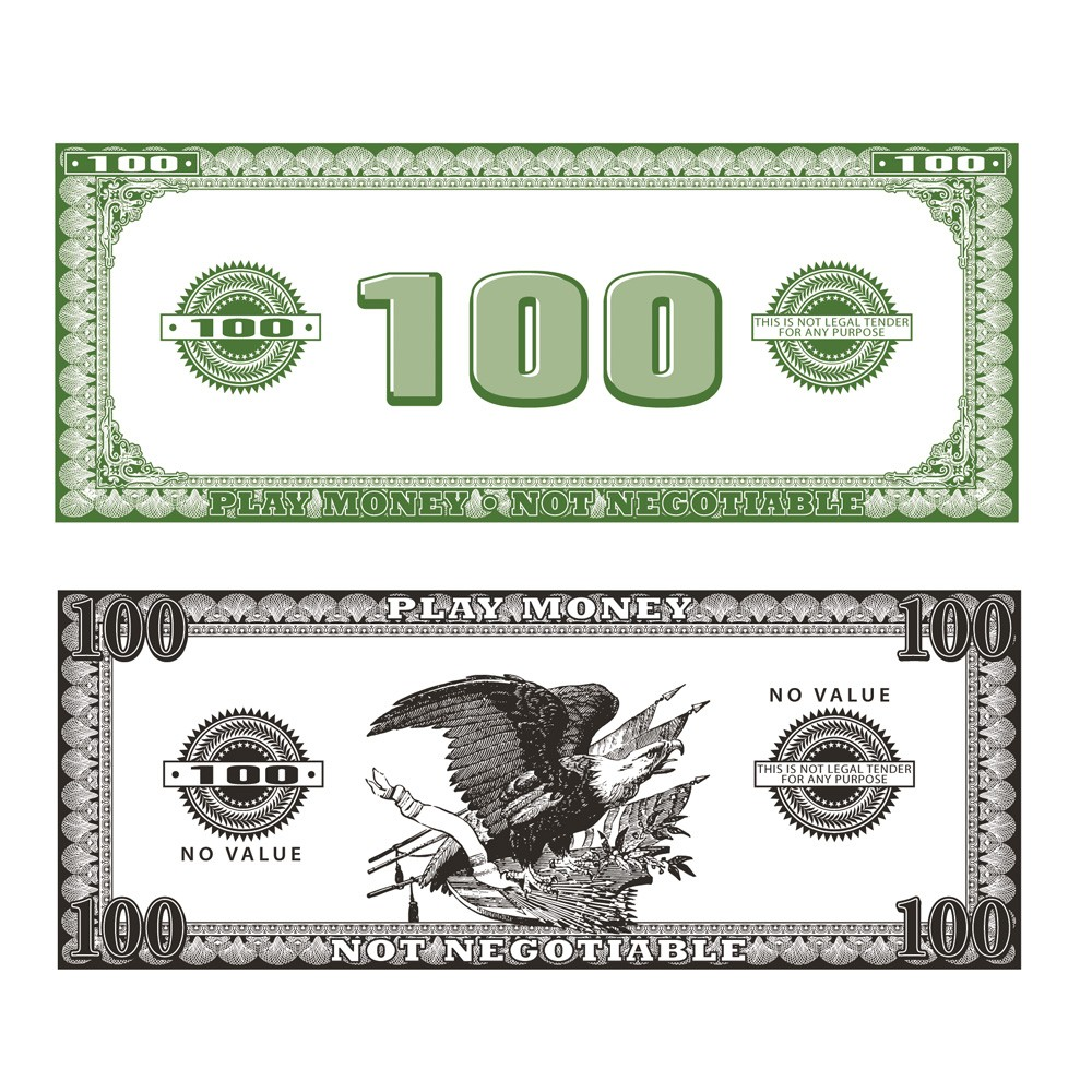 PAPER PHONEY MONEY - PACK OF 50