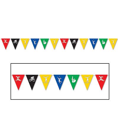 SUMMER SPORTS PENNANT BANNER - 3.6M