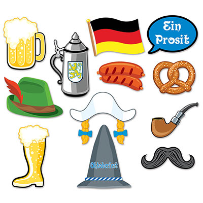 SELFIE PHOTO BOOTH PROPS - OKTOBERFEST PACK OF 12
