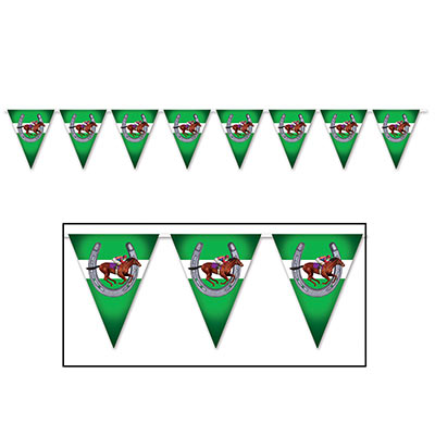MELBOURNE CUP HORSE PENNANT BANNER - 3.65M