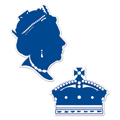 BRITISH QUEEN SILHOUETTES - PACK OF 2