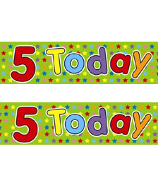 FOIL BANNER 5TH BIRTHDAY