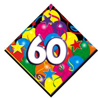 60TH BIRTHDAY NAPKINS - STARS & BALLOONS