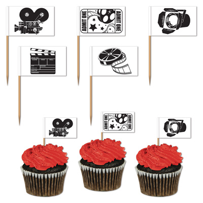 MOVIE SET TOOTHPICKS - PACK OF 50