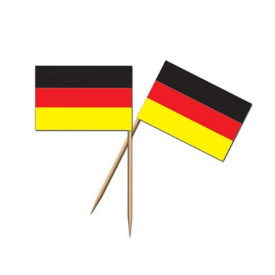 GERMAN FLAG TOOTHPICKS - PACK OF 50