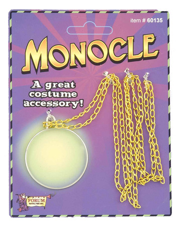MONOCLE WITH GOLD CHAIN
