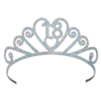18TH BIRTHDAY GLITTERED METAL TIARA