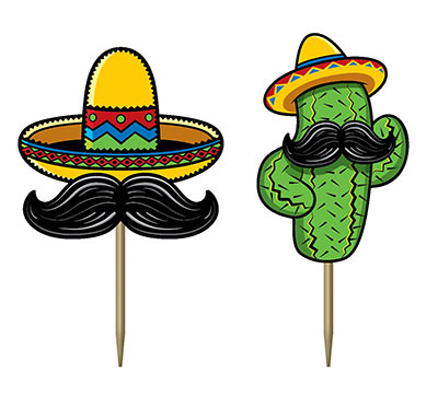MEXICAN FIESTA PARTY FOOD PICKS PACK OF 50