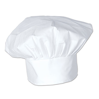 CHEF'S HAT - WHITE FABRIC OVERSIZED