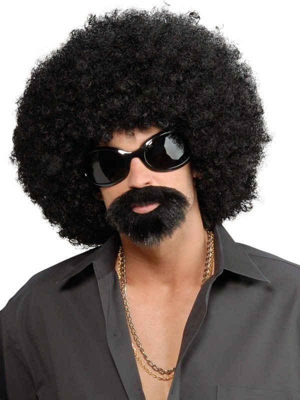 AFRO DISGUISE WIG - GLASSES, BEARD AND MOUSTACHE KIT