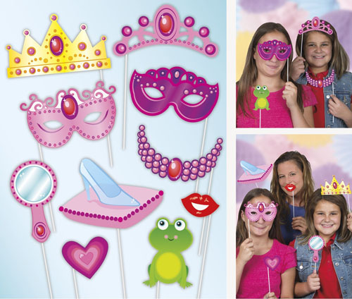 SELFIE PHOTO BOOTH PROPS - PRINCESS PACK OF 10