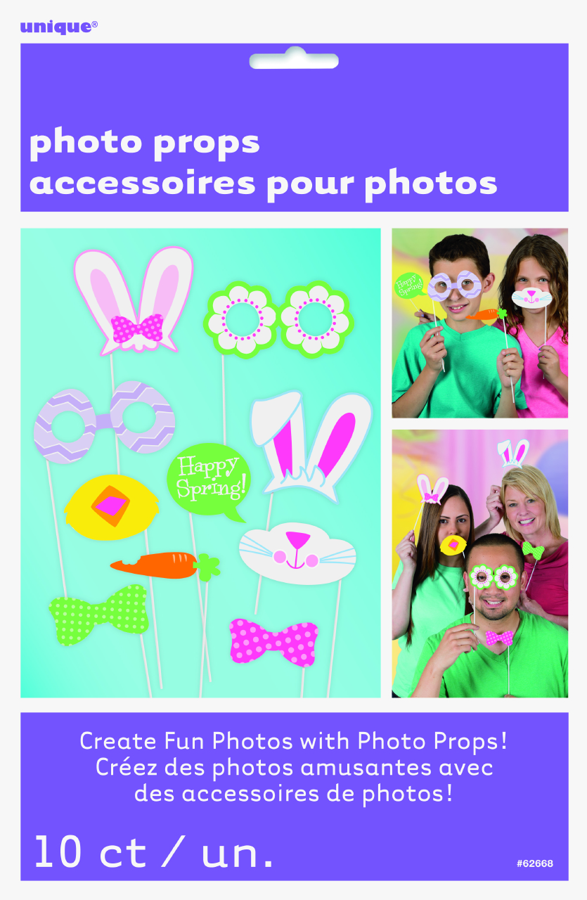 SELFIE PHOTO BOOTH PROPS - EASTER PACK OF 10