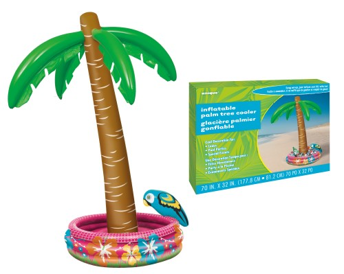 INFLATABLE PALM TREE DRINK COOLER - LARGE