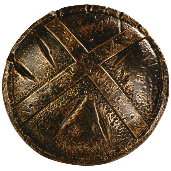 ROMAN SPARTAN BRONZE LOOK SHIELD