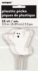 GHOST CUPCAKE TOPPERS - PACK OF 12