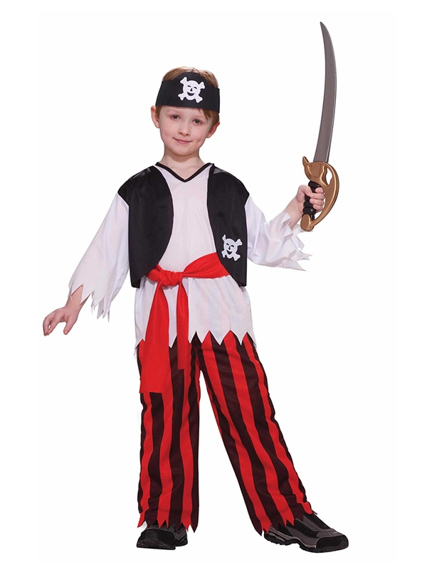 PIRATE SHIPMATE FANCY DRESS COSTUME - BOY MEDIUM