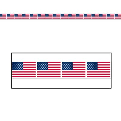 AMERICAN FLAG PARTY TAPE - 6M