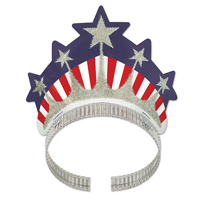 Image of American Patriotic Miss Liberty Tiara