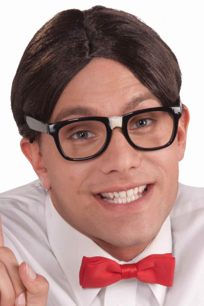 Image of Nerd Brown Centre Parted Wig