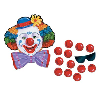 Image of Pin The Nose On The Clown Party Game