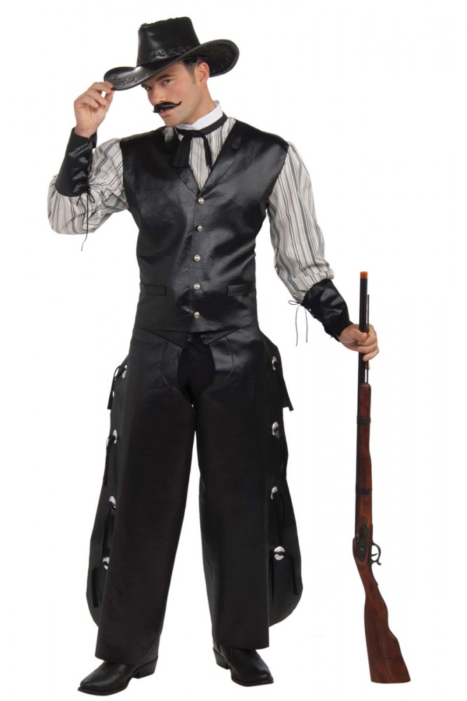 COWBOY WILD WEST GAMBLIN' ROGUE FANCY DRESS COSTUME