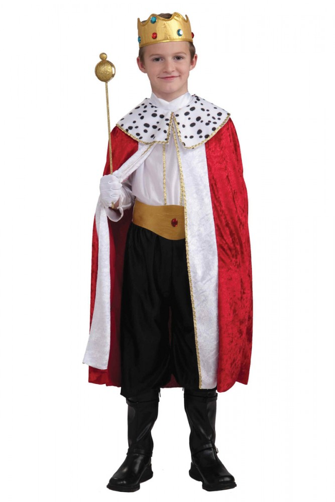 KING'S FULL ROBE & CROWN COSTUME - 3 SIZES