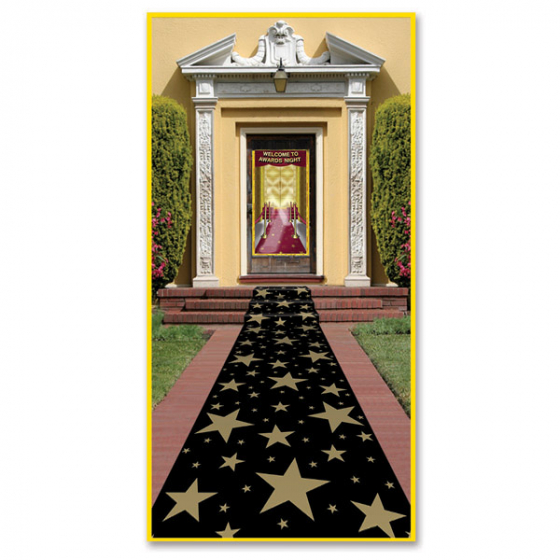 SCENE SETTER GOLD STARS AWARDS NIGHT MOCK CARPET RUNNER