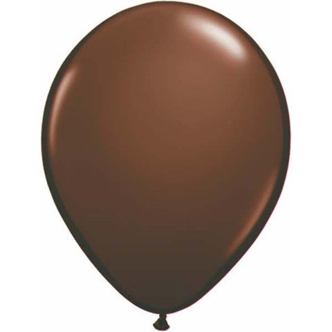 BALLOONS LATEX - CHOCOLATE BROWN FASHION TONE PACK OF 25
