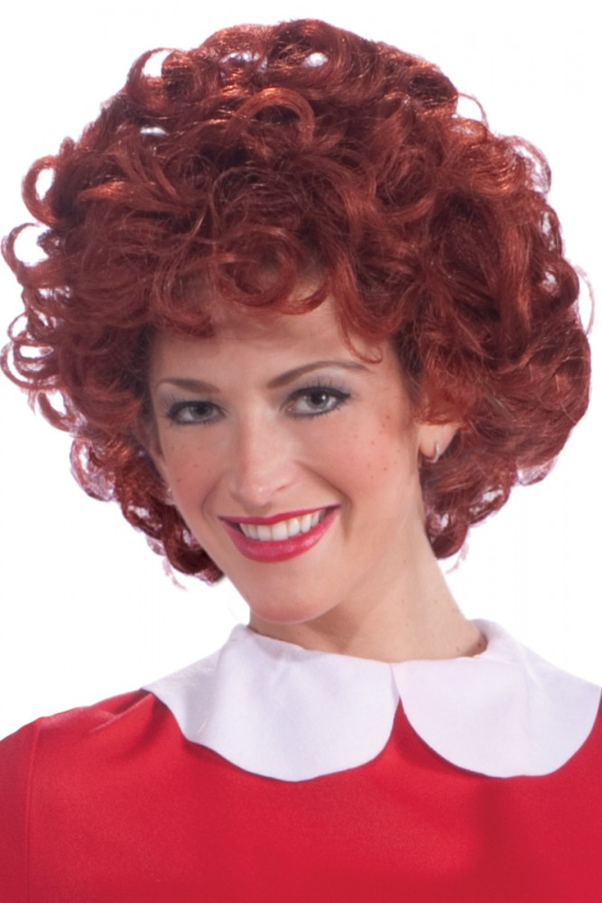 ANNIE CURLY RED ORPHAN WIG