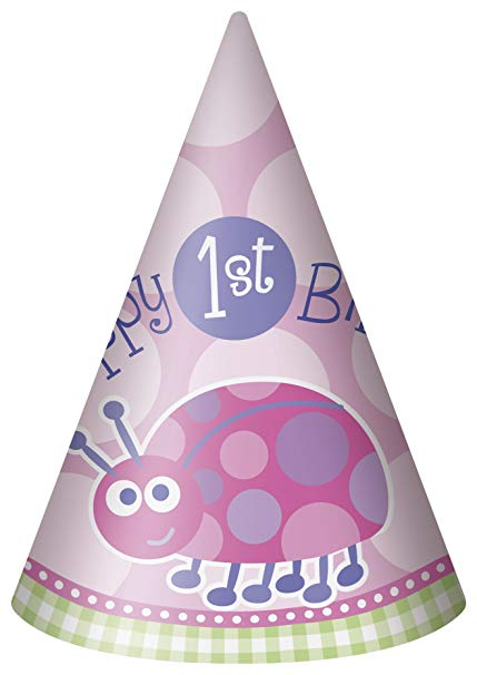 1ST BIRTHDAY HATS GIRL - LADY BEETLE