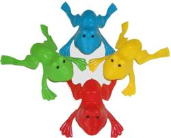 PARTY FAVOURS - LARGE JUMPING FROGS PACK OF 6