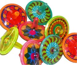 PARTY FAVOURS - SPINNING TOPS PACK OF 6