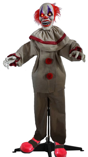 HALLOWEEN ANIMATED CREEPY PENNYWISE CLOWN WITH LIGHTS & SOUND