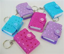 PARTY FAVOURS - SEQUIN NOTEBOOK KEY RINGS