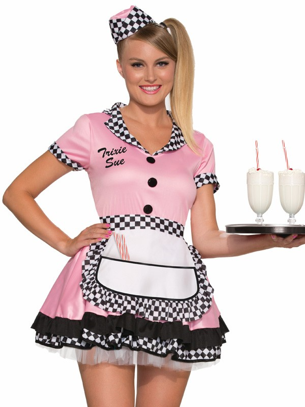 1950\'s Retro Trixie Waitress Fancy Dress Costume - Party Supplies ...