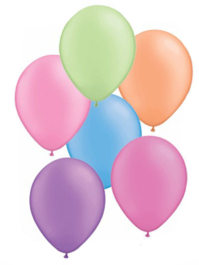 BALLOONS LATEX - NEON ASSORTMENT PACK OF 100